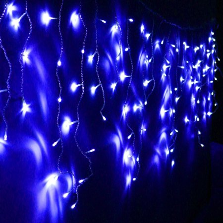 Half Of String Christmas Lights Work : Extendable Blue LED Icicle Lights - 8 Work Modes Control Box 11ft 120LEDs String Lights for ...