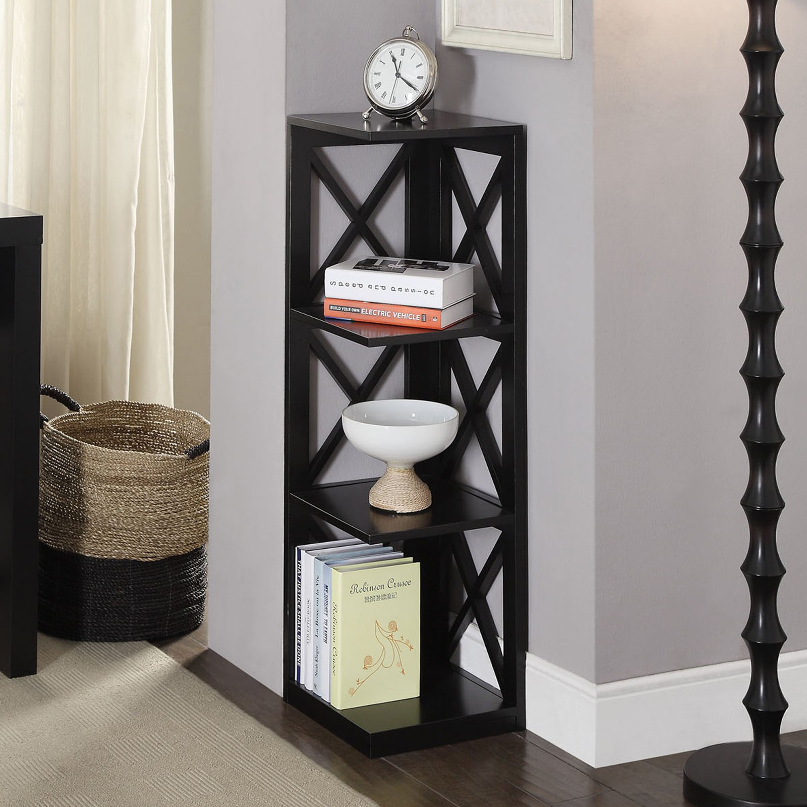 Convenience Concepts Oxford 3-Tier Corner Bookcase