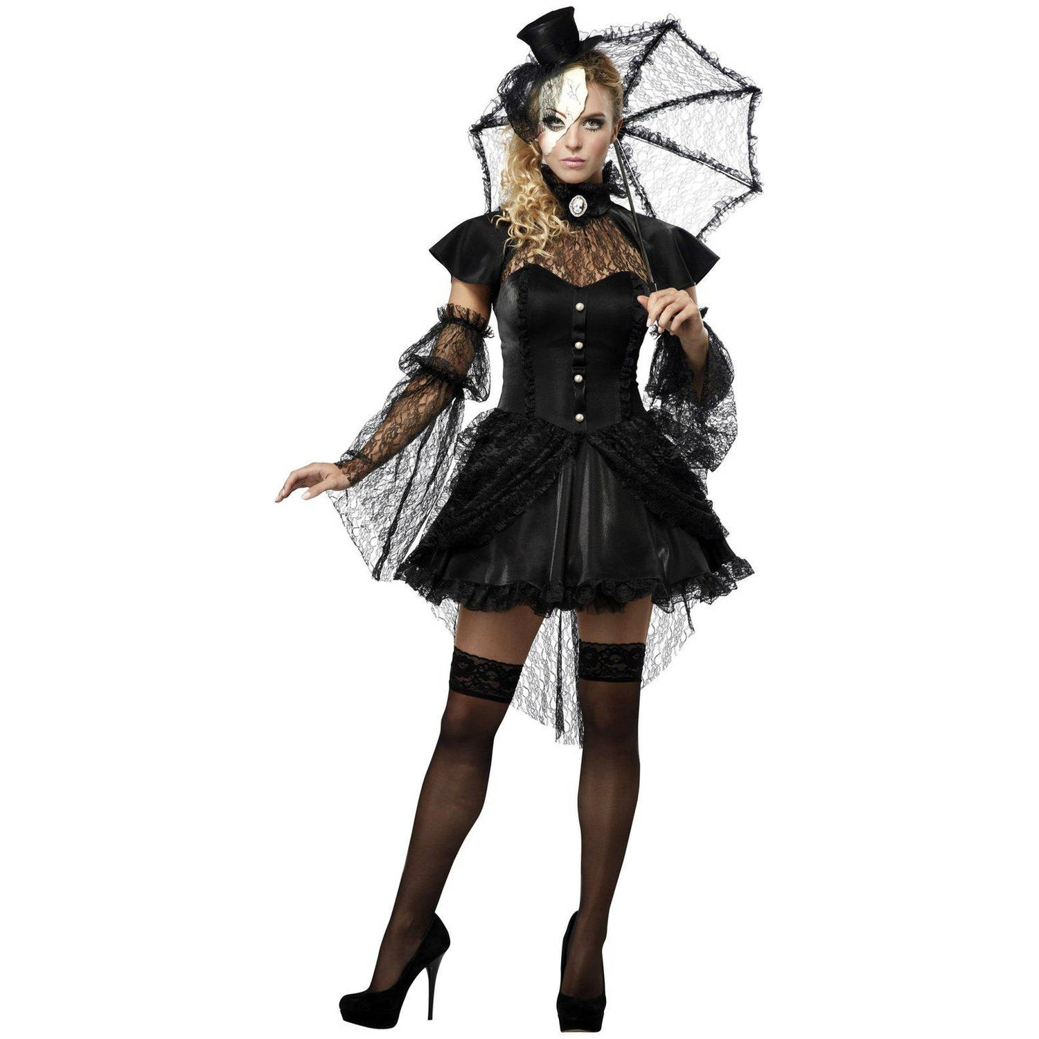 Victorian Doll Women's Adult Halloween Costume, Small