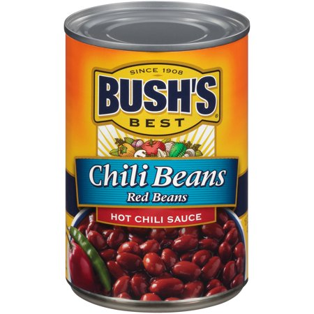 Bushs Best Red Beans in a Hot Chili Sauce, 16 Ounce -- 12 per (Best Chili Without Beans)