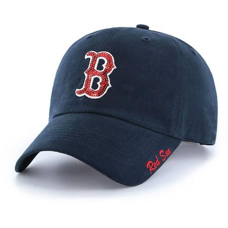 MLB Boston Red Sox Sparkle Women's Adjustable Cap/Hat by Fan Favorite (Mlb Boston Red Sox Black Cap)