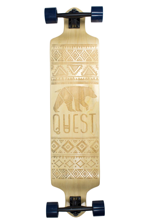 "Quest California Native 41"" Dropdown Longboard by Made in Mars Inc."
