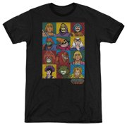 Masters of the Universe Animated TV Series Characters Adult Ringer T-Shirt Tee