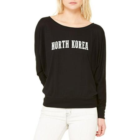 7e0fff3a83 Artix - North Korea T-Shirt North Korea Artix Women s Flowy Long ...