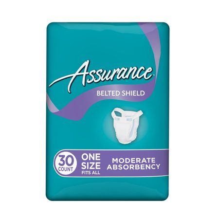 Assurance Incontinence Belted Shield Unisex, Moderate, One Size, 30 -