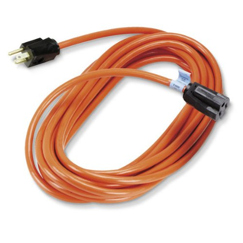 Black Box Indoor/Outdoor Utility Cord Single-Outlet 14/3 Grounded Heavy-Duty Orange 50-ft. (15.2-m)