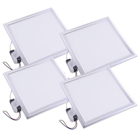 Ghp 4 Pieces 12w Ultra Thin 1000 Lux Cool White Square