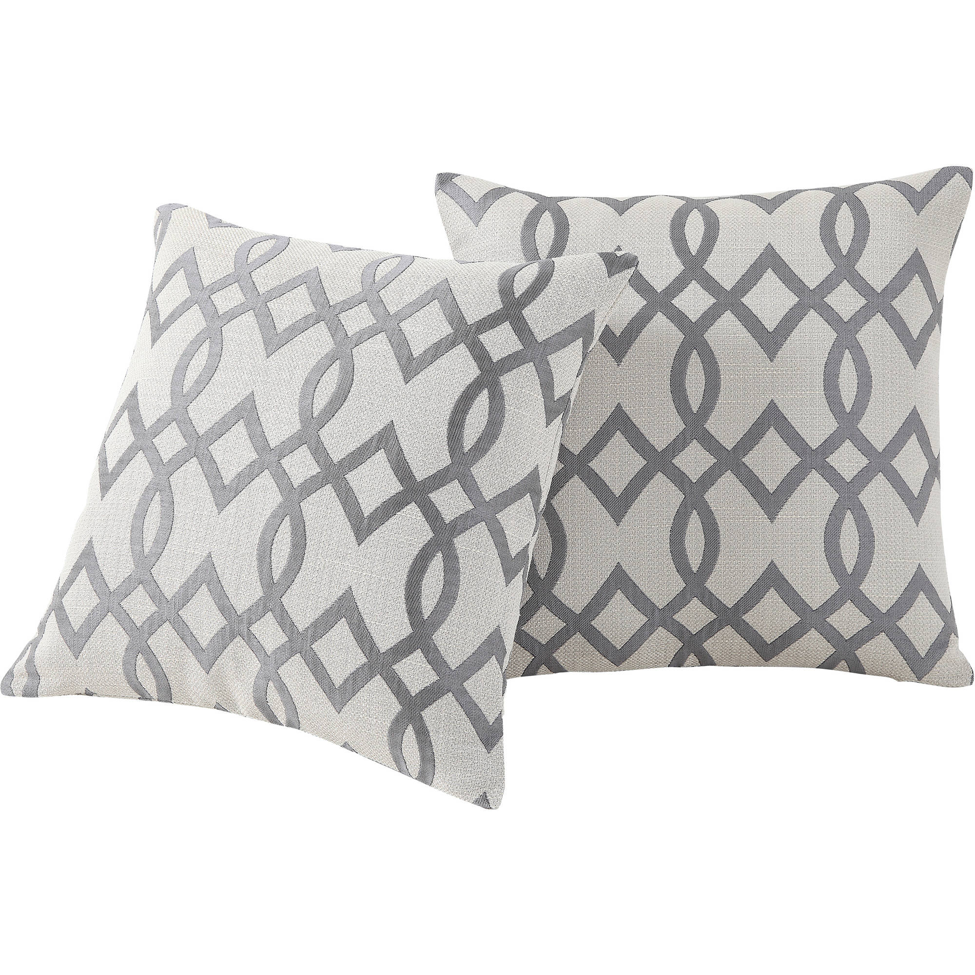 mainstays trellis pillow set of 2 - White Decorative Pillows