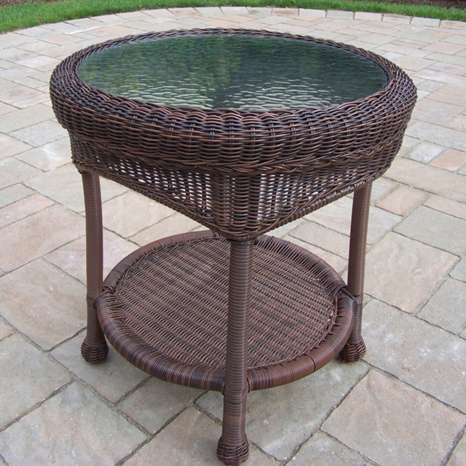 Oakland Living All-Weather Wicker End Table by Oakland Living