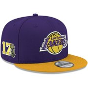 Los Angeles Lakers New Era 17-Time Champions Side Patch 9FIFTY Snapback Hat - Purple/Gold - OSFA