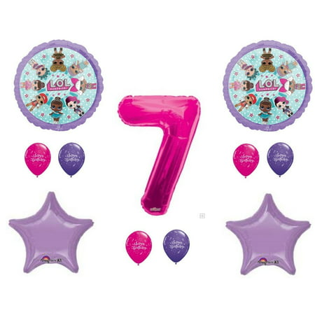LOL Surprise Doll 7th Birthday Party Balloons Decoration Supplies