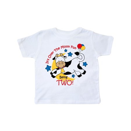Cow Over Moon 2nd Birthday Toddler T Shirt