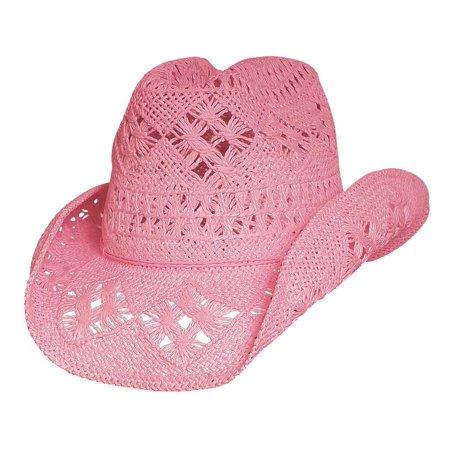 Bullhide Hats 2233P Run A Muck Collection Des Moines L-Xl Pink Cowboy Hat - Pink Cowboy Hat