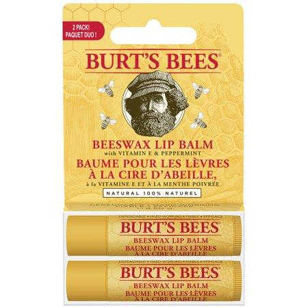 Burt's Bees 100% Naturel Baume Hydratant, cire d'abeille, 2 Tubes en blister Boîte