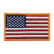 """Heros Pride Rayon/Polyester Embroidered Patch 4"""" x 2-1/2"""" Rayon/Polyester 7362"""