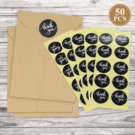 FRIDAY NIGHT Kraft Paper Bags 50Pcs Party Candy Bags with Thank You Seal Stickers Wedding Goody Bag - Party City Black Friday