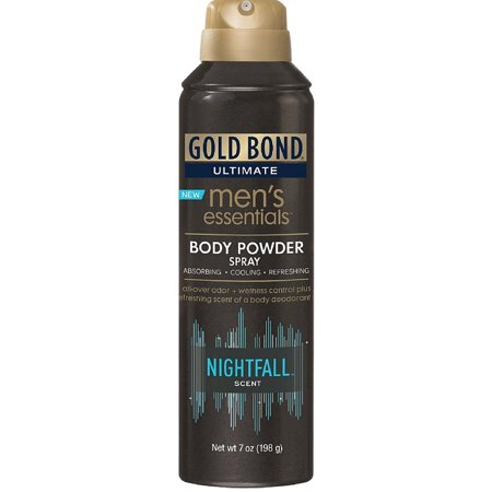 Gold Bond Ultimate Men's Essentials Body Powder Spray, Nightfall Scent 7 oz (Pack of