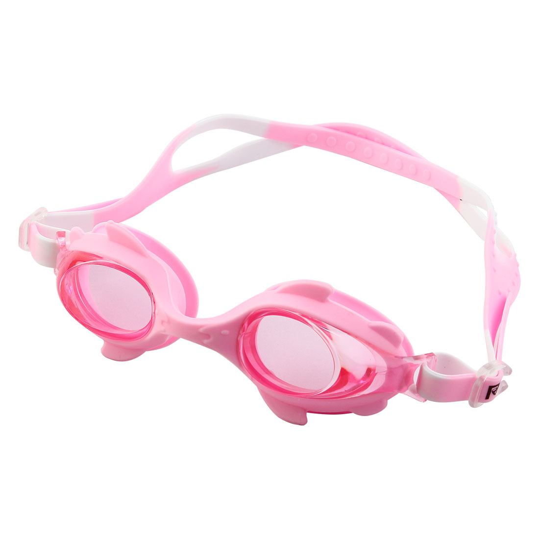 Clear Vision Anti Fog Adjustable Belt Swimming Goggles Glasses Pink for Children by