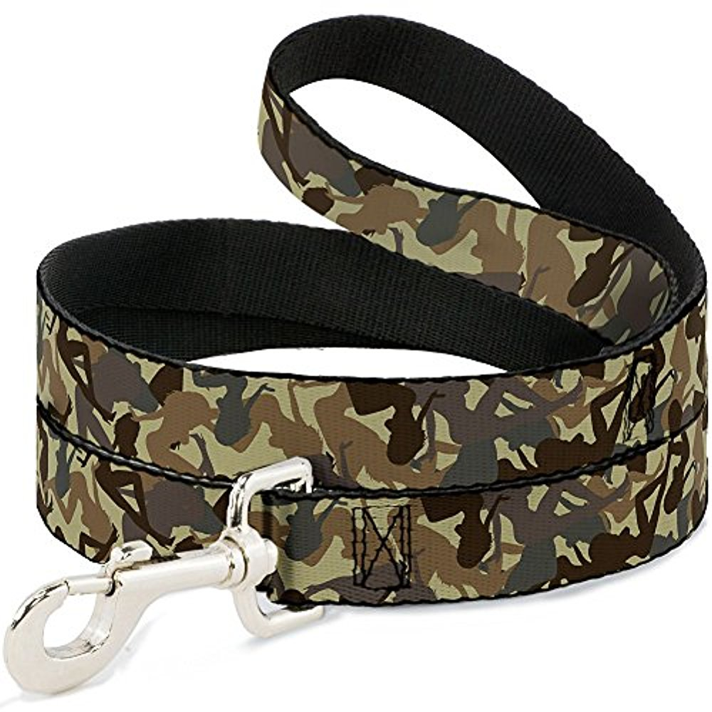 "Buckle-Down ""Mud Flap Girls Camo Browns"" Dog Leash"