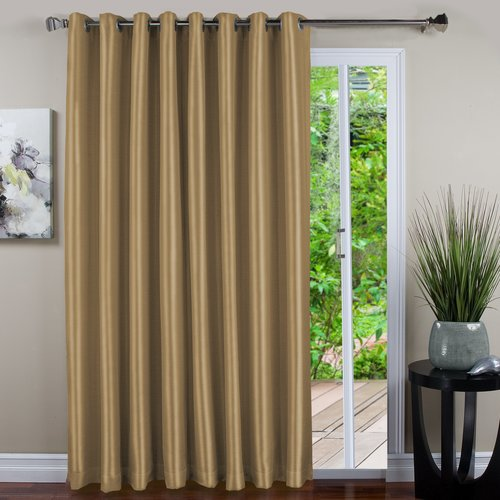 Ricardo Trading Harmony Solid Blackout Grommet Single Curtain Panel