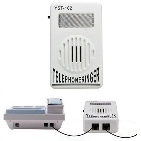 Telephone Ringer up to 95dB With Strobe Light Flasher Extra-Loud Bell (International Ringer)