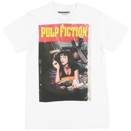 46cf0048 MIRAMAX - Miramax Pulp Fiction Movie Poster Regular Fit T-Shirt Mia Wallace  Tee Top White - Walmart.com