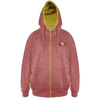 Product Image San Francisco 49ers Majestic Big   Tall Space Dye Full-Zip  Hoodie - Scarlet 88227e1b1