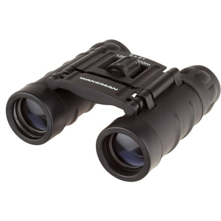 Pocket Sized Binoculars - Compact Folding Field Glasses with 8X Zoom and 1000 Yard Viewing Range for Hunting or Watching Wildlife by Wakeman
