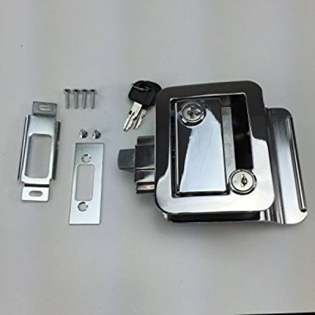 New Recpro Chrome Rv Camper Trailer Motorhome Paddle Entry Door Lock