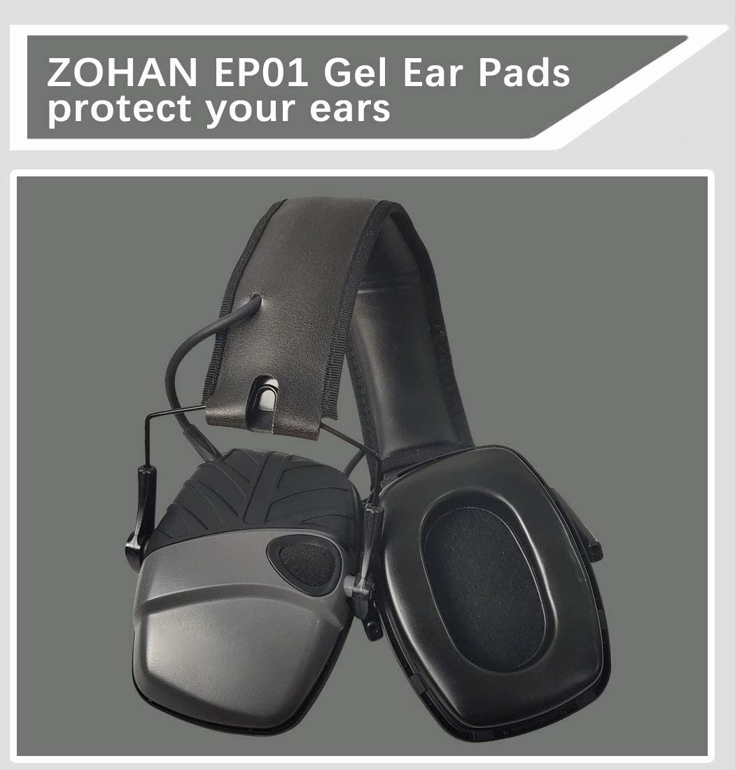 ZOHAN Replacement Gel Ear Pads for Howard Leight by Honeywell Impact Earmuff