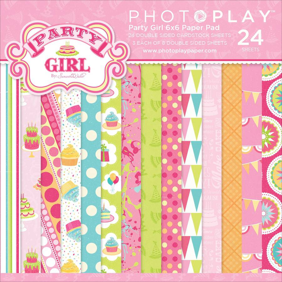 "Photo Play Party Girl Double-Sided Paper Pad 6""X6"" 24/Pkg-8 Designs/3 Ea, Pk 2"