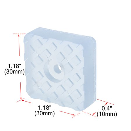 34pcs Square Rubber Feet Furniture Leg Pad Anti-scratch Floor Protector 30x30mm - image 3 of 7