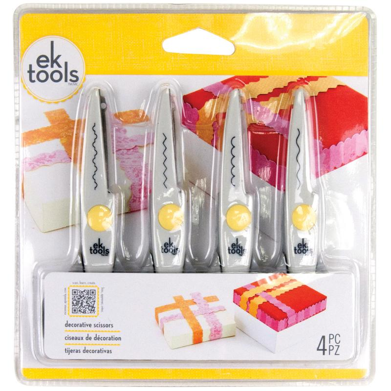 "Ek Success 10827692 Decorative Scissors 5.5"" 4/pkg-deckle, Wave, Scallop & Zigzag"