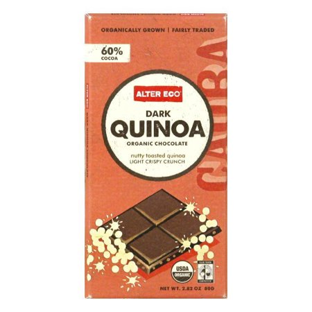 Eco Collection Cereal - Alter Eco Dark Quinoa Bar, 2.82 OZ (Pack of 12)