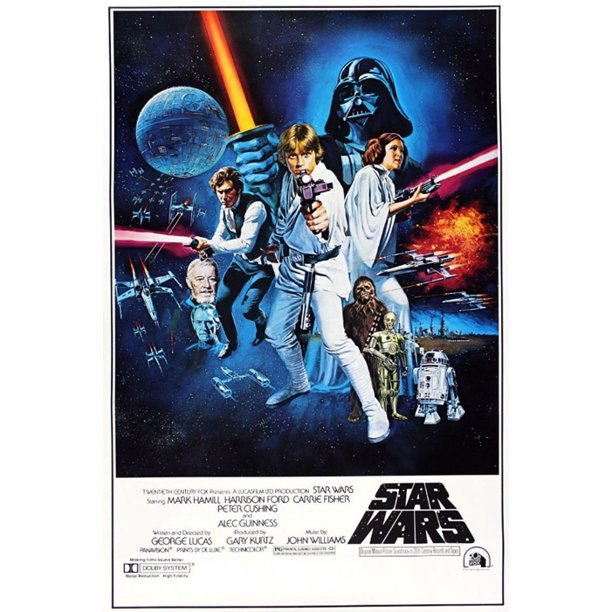 Star Wars Episode Iv A New Hope Movie Poster Print Regular Style C Size 27 X 40 Walmart Com Walmart Com