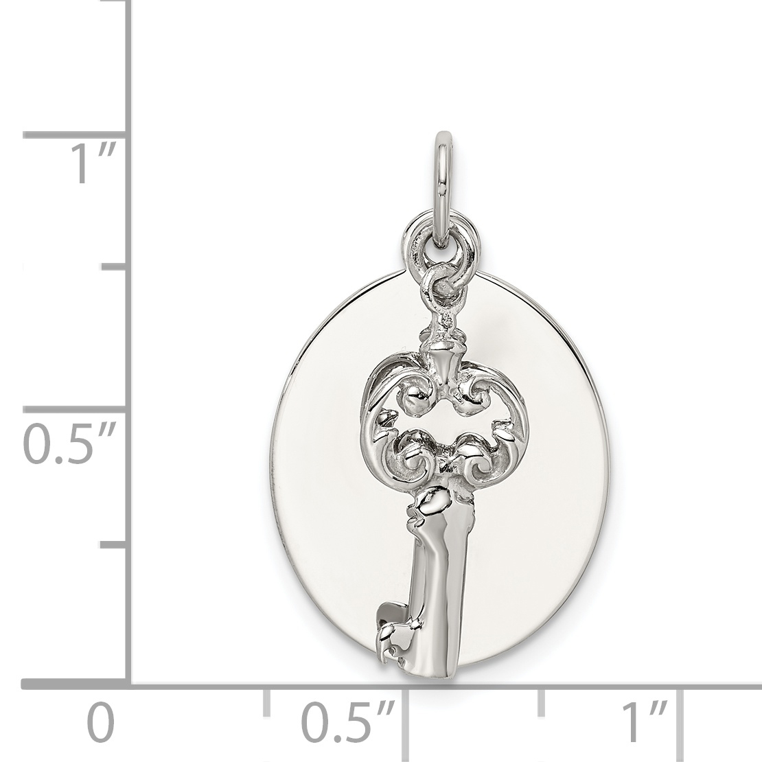 925 Sterling Silver Key Pendant Charm Necklace Fine Jewelry Gifts For Women For Her - image 1 de 2