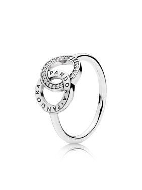 9d1f2c3ce Product Image logo ring in sterling silver w/clear CZ Ring sz 48  196326CZ-48. PANDORA
