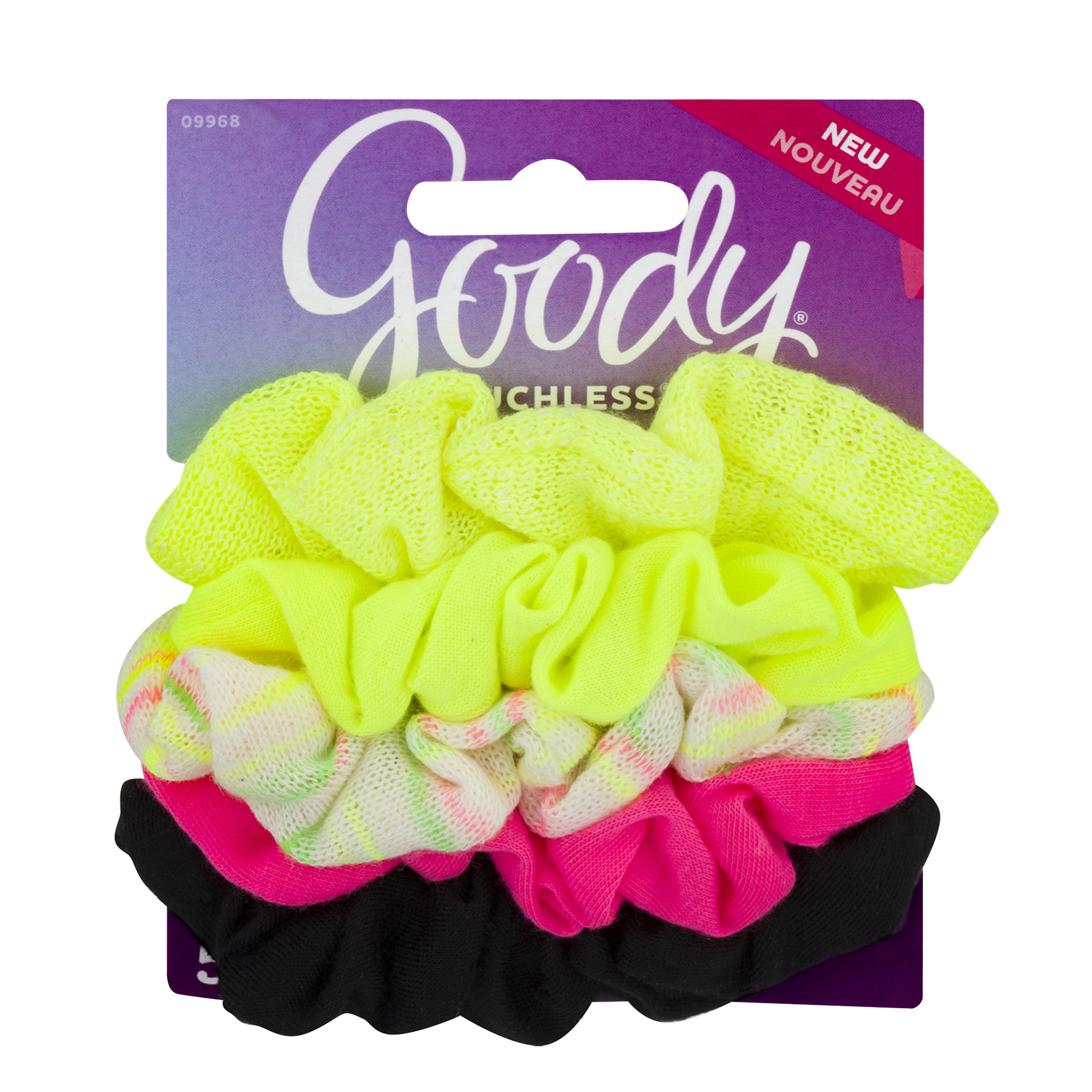 Goody Ouchless Hair Scrunchies, Assorted Fall Bright, 5 count