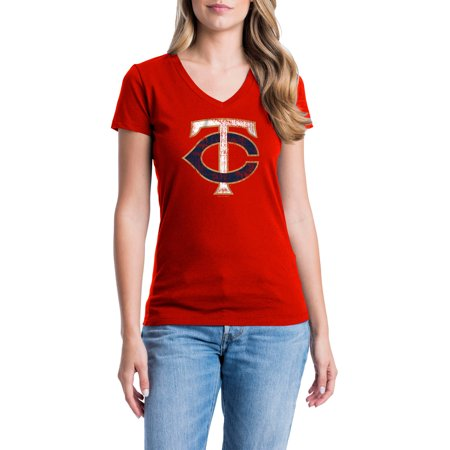 a8c1e9b8cf4 Minnesota Twins Womens Short Sleeve Graphic Tee - Walmart.com