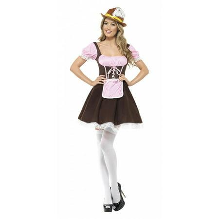 Tavern Girl Adult Costume Short Dress - Small - Tavern Costume
