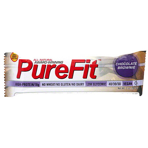 PureFit Chocolate Brownie Nutrition Bars, 2 oz (Pack of 15)