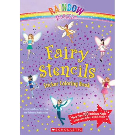 Fairy Stencils Sticker Coloring Book - Walmart.com