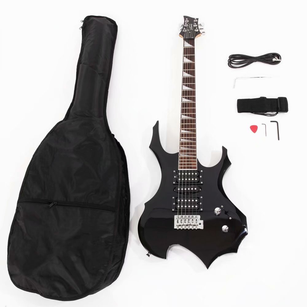 glarry professional flame type electronic guitar guitar bag pick tremolo bar link cable set. Black Bedroom Furniture Sets. Home Design Ideas
