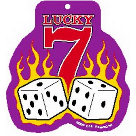 Lucky 7 Flaming Dice Air Freshener A-0138