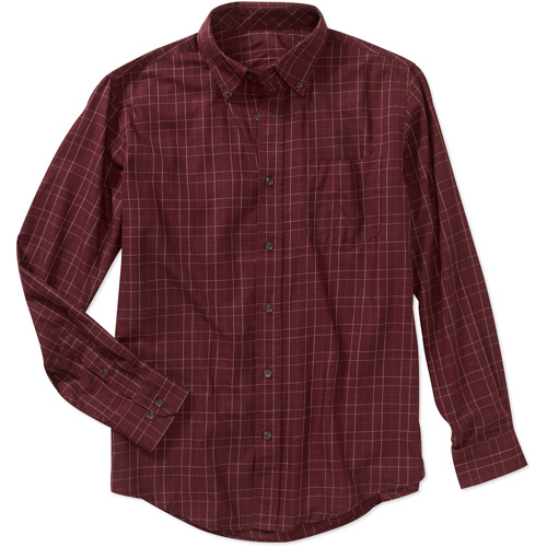 Mens Ls Plaid Woven Shirt