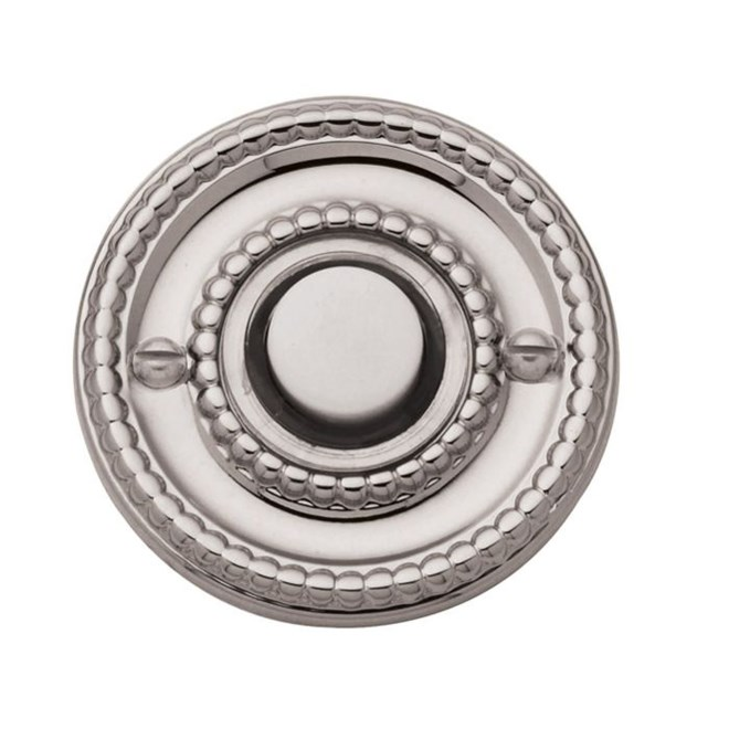 Baldwin 4850.055 Lifetime Polished Nickel Beaded Bell Button