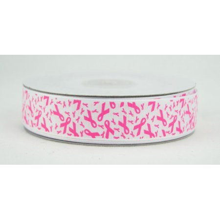 Breast Cancer Awareness Bows (Ribbon Bazaar Grosgrain Breast Cancer Awareness Ribbon 7/8 inch Hot Pink 25)
