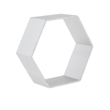 House DIY Maker Bread Biscuit Hexagon Shape Silver Tone Metal Cutter Mold  Mould