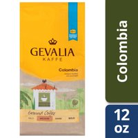 Gevalia Medium Roast Columbia Arabica Ground Coffee, Caffeinated, 12 oz Bag