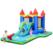 Gymax Inflatable Bouncer Climbing Slide Bounce House Water Park BallPit Without Blower